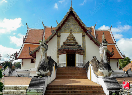 Fotobehang Bedehuis The beauty of the Phumin temple is the oldest temple in Nan . And has a long history