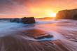 Leinwandbild Motiv Quiberon coastline in Brittany (France)