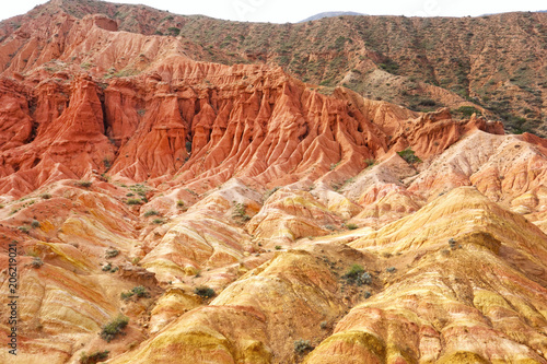 Tuinposter Canyon Colorful rock formations in Fairy tale canyon (Skazka), Kyrgyzstan