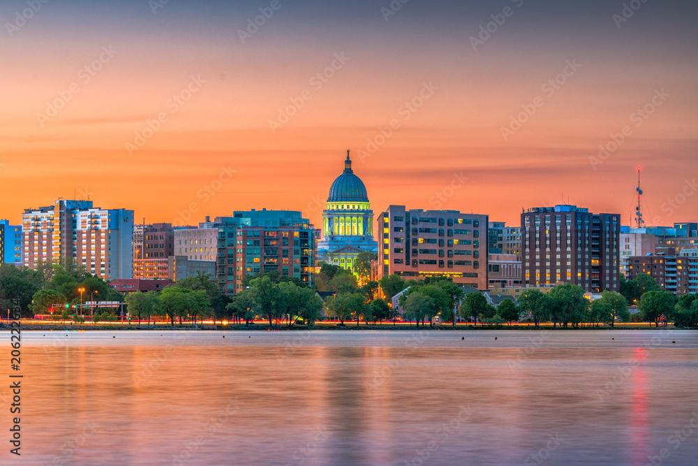 Fototapety, obrazy: Madison, Wisconsin, USA Skyline
