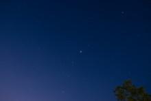 Just A Few Stars On Blue Sky