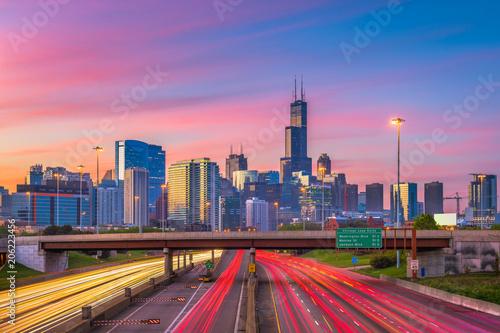 Poster Chicago Chicago, Illinois, USA Skyline
