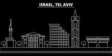Tel Aviv Silhouette Skyline. I...