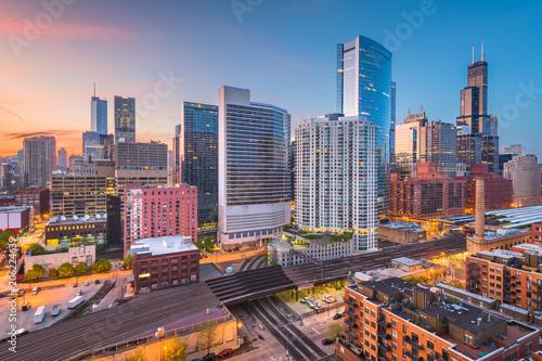 Poster Chicago Chicago, Illinois, USA Cityscape
