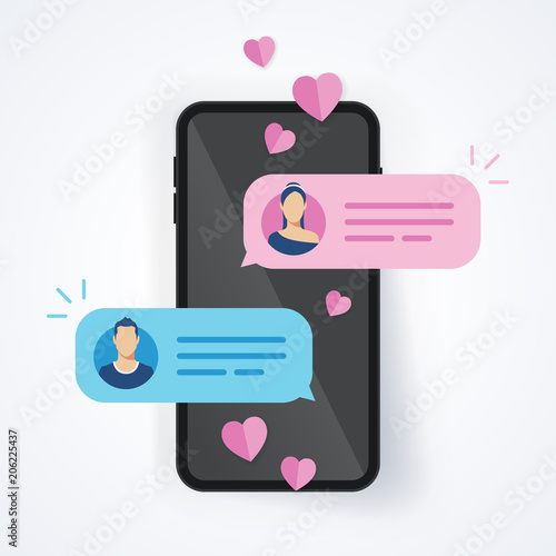 Chating mobile et datation