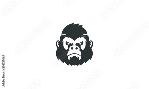 Photo  gorilla head ilustration vector