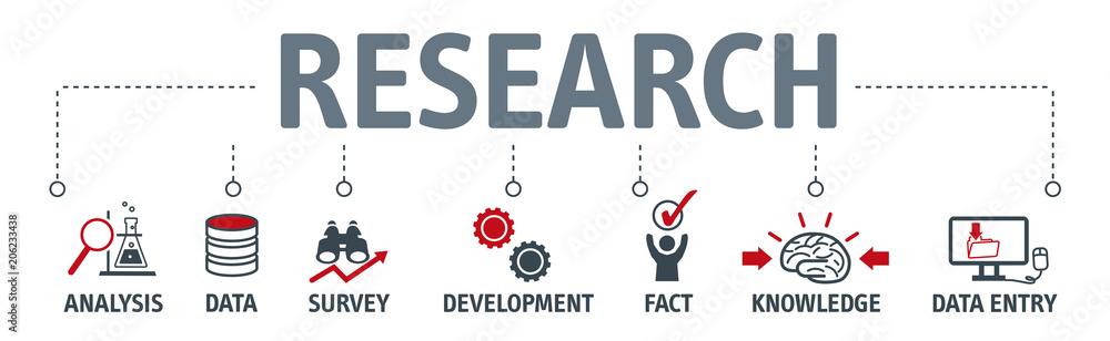 Fototapeta Banner research concept