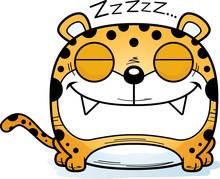 Cartoon Leopard Napping