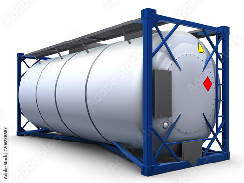 Fotografía  3d illustration render tank container isolated.