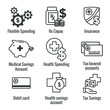 Medical Tax Savings - Health savings account or flexible spending account has HSA, FSA, tax-sheltered savings