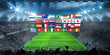 WM 2018 - Flaggen im Stadion