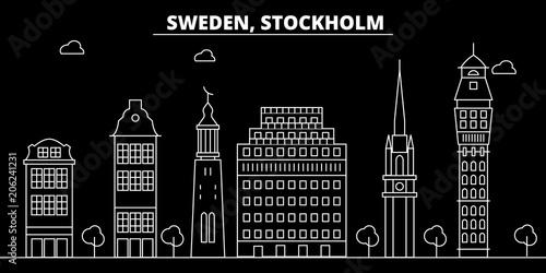 Photo  Stockholm silhouette skyline