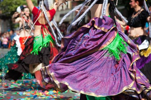 gypsy belly dancers Canvas Print