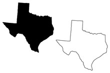 Texas Map Vector Illustration,...