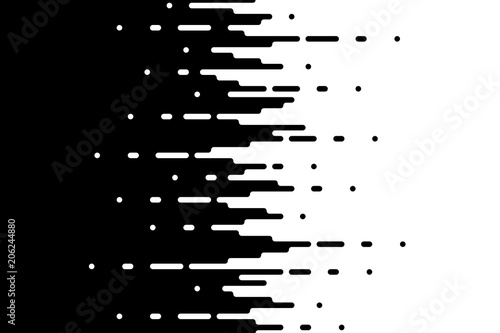 Fotografiet  Halftone gradient lines Speed abstract pattern Isolated object on white backgrou