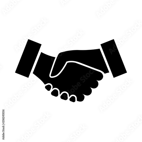 Handshake Icon Two Hands Shaking In Confirmation Of Business