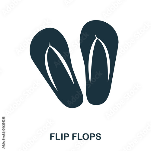Flip Flops icon. Flat style icon design. UI. Illustration of flip flops icon. Pictogram isolated on white. Ready to use in web design, apps, software, print.