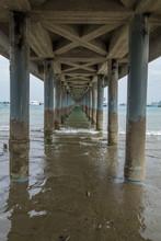 Underneath A Fishing Pier