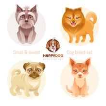 Puppy Dog Breeds Icon Set. Yor...