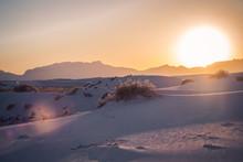Sunset At White Sands Desert