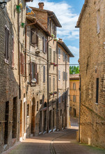 Scenic View In Urbino, City And World Heritage Site In The Marche Region Of Italy.