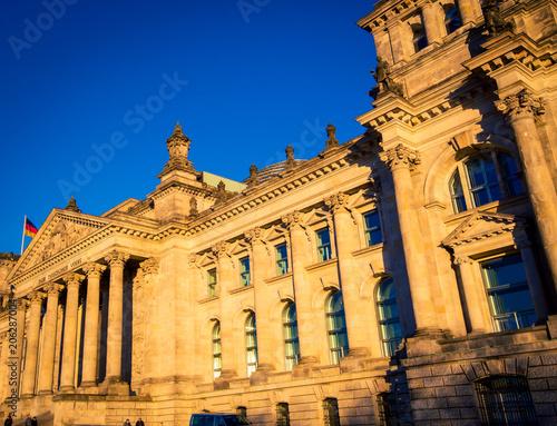 Zdjęcie XXL na zewnątrz niemieckiego parlamentu