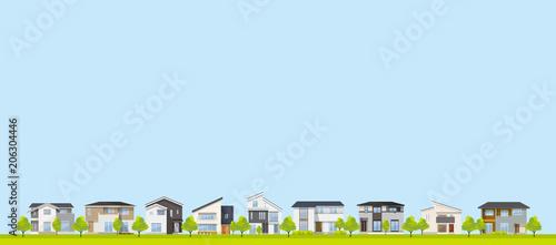 Cuadros en Lienzo  風景、背景:家、住宅、一軒家、戸建て