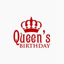 Queen's Birthday Vector Templa...