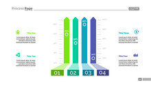 Four Options Bar Chart Template For Presentation