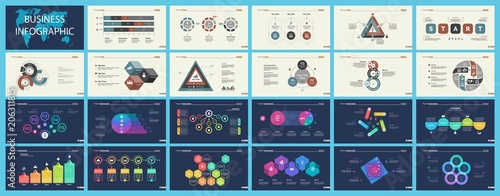 Set of sales or production concept infographic charts Canvas Print
