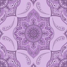 Floral Indian Paisley Pattern ...