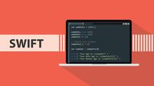 Swift Code Programming Language With Script Code On Laptop Screen