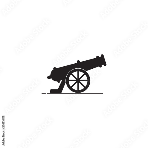 Cannon vector icon Wallpaper Mural