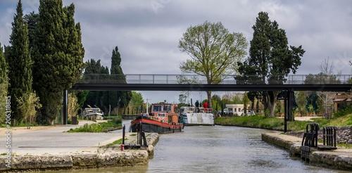 Fotografie, Obraz  Canal du midi à Béziers.