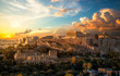 Akropolis von Athen bei Sonnenuntergang