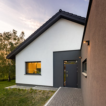 House With Entry Pathway