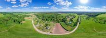 Equirectangular Panorama Of Belorussian Countryside.  Panorama 360°