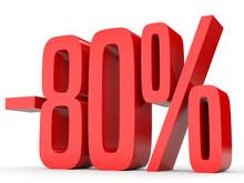 Minus Eighty Percent. Discount 80 %.