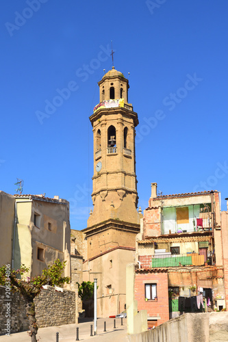 Photo Sant Pere  Church of Calaf, Anoia, Barcelona province, Catalonia, Spain