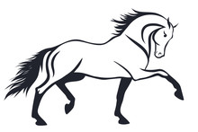 A Pattern Of A Trotting Horse.