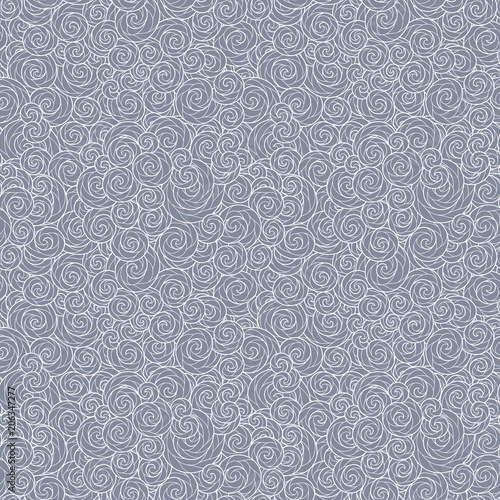 Fototapety, obrazy: Seamless abstract hand-drawn waves pattern, wavy background.