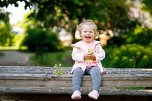 Cute Adorable Toddler Girl Pla...