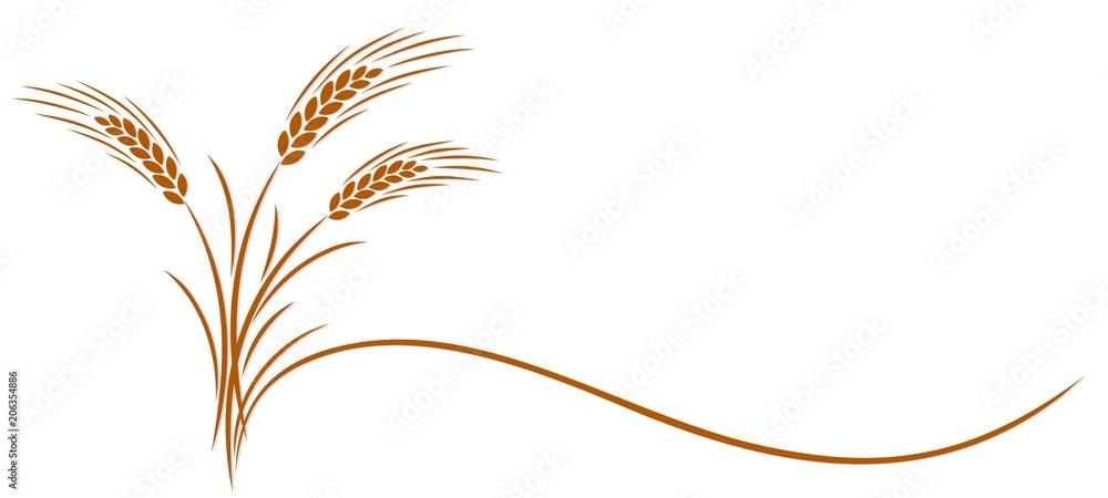 Fototapety, obrazy: Wheat ear symbol.