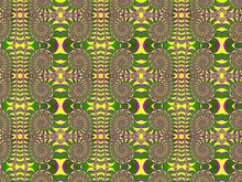 Seamless Fractal Pattern With A Spirals