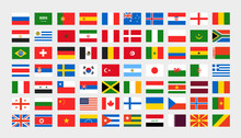 Different National Flags Clip-art. Vector Collection