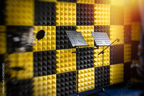 Music  book stand In recording studio Canvas-taulu