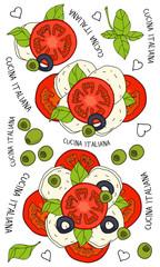 Naklejka Na lodówkę Mozzarella & tomato