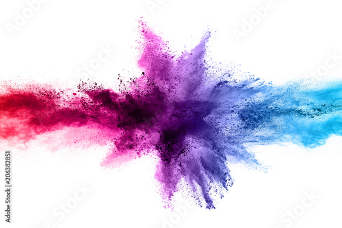 Fotografia  abstract powder splatted background