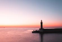Bastia Lighthouse In Corsica, France