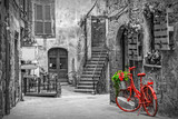 Fototapeta Persperorient 3d - Beautiful alley in Tuscany, Old town, Italy